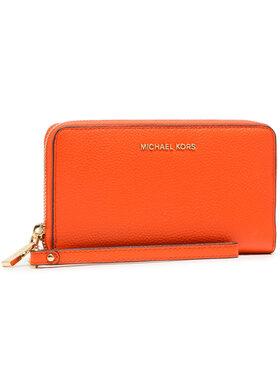 MICHAEL Michael Kors MICHAEL Michael Kors Veľká dámska peňaženka Lg Flat Mf Phn Case 34F9GM9E3L Oranžová