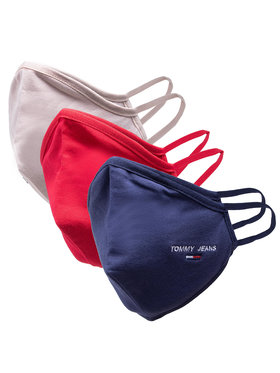 Tommy Jeans Tommy Jeans Sada 3 textilných masiek Tjm Face Cover 3-Pack AM0AM07682 Tmavomodrá