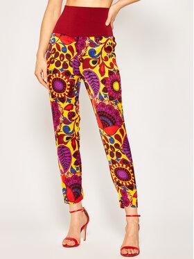 Manila Grace Manila Grace Spodnie materiałowe P572VF Kolorowy Regular Fit