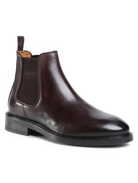 Gant Gant Členková obuv s elastickým prvkom Flairville 21651992 Hnedá
