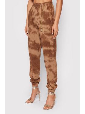 Pinko Pinko Spodnie dresowe UNIQUENESS Colorare 1Q10AW 8641 Brązowy Regular Fit