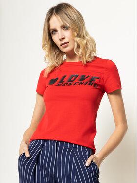 LOVE MOSCHINO LOVE MOSCHINO Marškinėliai W4F7358E 1698 Raudona Regular Fit