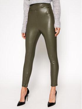 Guess Guess Kožené nohavice Priscilla W0BB71 WBG60 Zelená Slim Fit