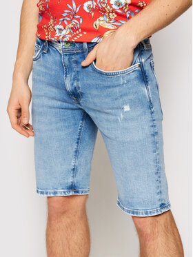 Pepe Jeans Pepe Jeans Дънкови шорти Stanley PM800792 Син Slim Fit