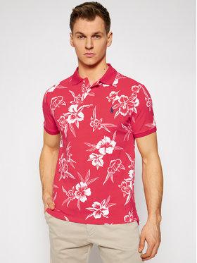 Polo Ralph Lauren Polo Ralph Lauren Тениска с яка и копчета Pacific Hibiscus 710835226001 Червен Slim Fit