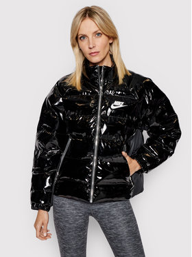 Nike Nike Vatovaná bunda Icon Clash CU6712 Čierna Regular Fit
