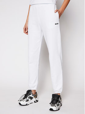 MSGM MSGM Jogginghose 3041MDP64 217299 Weiß Regular Fit