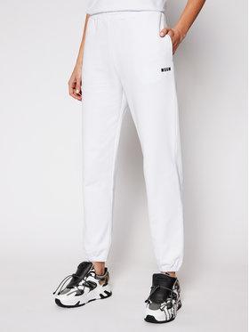 MSGM MSGM Παντελόνι φόρμας 3041MDP64 217299 Λευκό Regular Fit