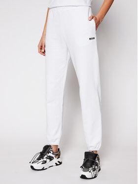 MSGM MSGM Teplákové kalhoty 3041MDP64 217299 Bílá Regular Fit