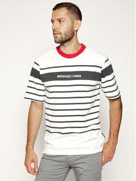 DC DC T-Shirt Laytonville EDYKT03485 Biały Regular Fit