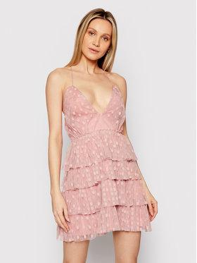 Nissa Nissa Sukienka koktajlowa RS12175 Różowy Regular Fit