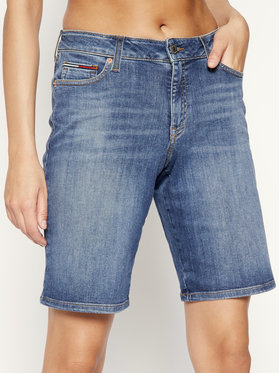 Tommy Jeans Tommy Jeans Дънкови шорти Mid Rise Denim Bermuda DW0DW08214 Тъмносин Regular Fit
