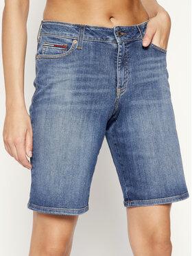 Tommy Jeans Tommy Jeans Džinsiniai šortai Mid Rise Denim Bermuda DW0DW08214 Tamsiai mėlyna Regular Fit