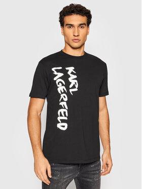 KARL LAGERFELD KARL LAGERFELD T-Shirt Crewneck 755041 512226 Czarny Regular Fit