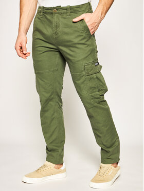 Superdry Superdry Joggery Care Cargo M7010024A Zielony Taper Fit