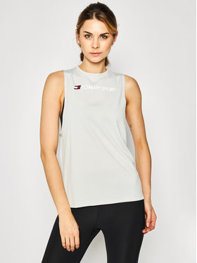 Tommy Sport Tommy Sport Τοπ Performance S10S100460 Γκρι Regular Fit
