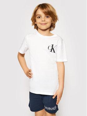 Calvin Klein Swimwear Calvin Klein Swimwear Тишърт B70B700312 Бял Regular Fit