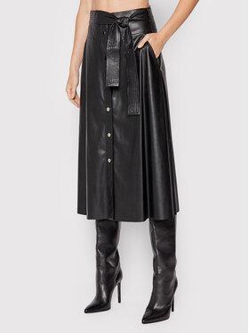 Liu Jo Liu Jo Suknja od imitacije kože WF1027 E0392 Crna Regular Fit