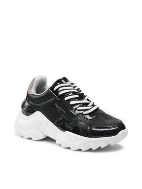 Pepe Jeans Pepe Jeans Sneakersy Eccles Croco PLS31224 Čierna