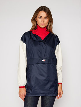 Tommy Sport Tommy Sport Giacca di transizione Longlined Popover Windbreaker S10S100619 Blu scuro Regular Fit