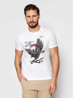 Aeronautica Militare Aeronautica Militare T-shirt 211TS1862J512 Bijela Regular Fit