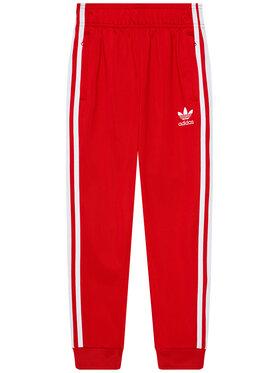 adidas adidas Spodnie dresowe adicolor Sst GN8455 Czerwony Regular Fit