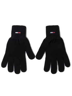 Tommy Jeans Tommy Jeans Gants homme Tjm Basic Flag Rib Gloves AM0AM05217 Noir
