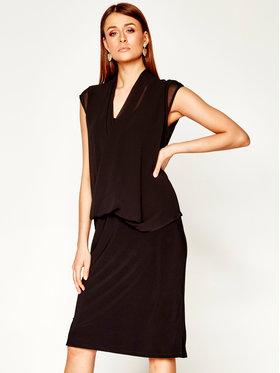 DKNY DKNY Večerní šaty P0BHDEGZ Černá Regular Fit