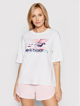 New Balance New Balance T-shirt Athletics Erin Loree Graphic Tee WT11514 Bianco Relaxed Fit