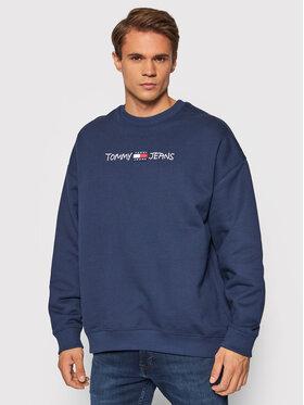 Tommy Jeans Tommy Jeans Bluza Tjm Seasonal Straight Logo DM0DM10914 Granatowy Regular Fit