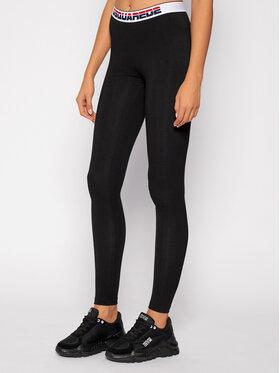 Dsquared2 Underwear Dsquared2 Underwear Legginsy D8LM03230 Czarny Slim Fit