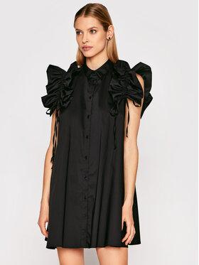 Imperial Imperial Sukienka koszulowa AA5TBBE Czarny Regular Fit