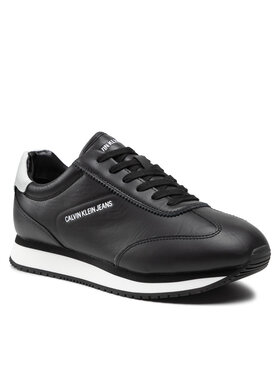 Calvin Klein Jeans Calvin Klein Jeans Sneakersy Runner Laceup Sneaker Lth YM0YM00243 Czarny