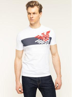 EA7 Emporio Armani EA7 Emporio Armani T-Shirt 3HPT49 PJQ9Z 1100 Bílá Regular Fit