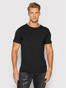 Guess Guess Marškinėliai U1GM01 JR06A Juoda Slim Fit