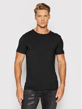 Guess Guess T-Shirt U1GM01 JR06A Czarny Slim Fit