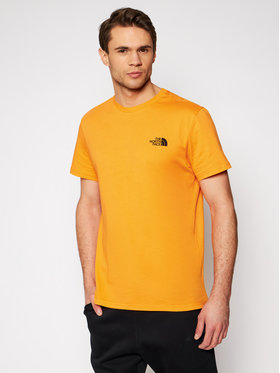 The North Face The North Face T-shirt Simple Dome Tee NF0A2TX5PKH Orange Regular Fit