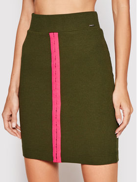 Guess Guess Fustă mini Tulay W1RD04 K8RT2 Verde Slim Fit
