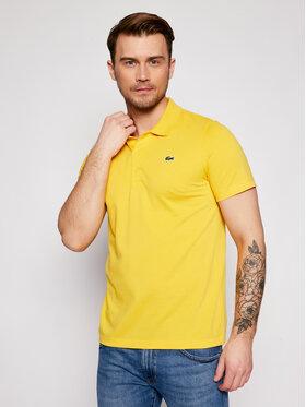 Lacoste Lacoste Тениска с яка и копчета DH2881 Жълт Regular Fit