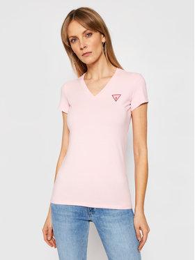 Guess Guess T-Shirt Mini Triangle W1GI17 J1311 Różowy Slim Fit