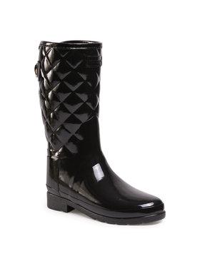 Hunter Hunter Guminiai batai Refined Gloss Quilt Short WFS1029RGL Juoda