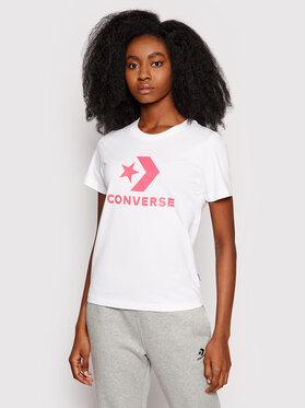 Converse Converse T-Shirt Star Chevron 10018569 Biały Standard Fit