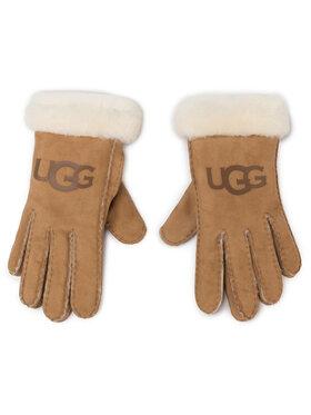 Ugg Ugg Дамски ръкавици W Sheepskin Logo Glove 18691 Бежов