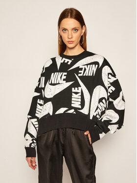 NIKE NIKE Mikina Sportswear CJ2052 Černá Loose Fit