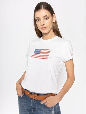 Polo Ralph Lauren Polo Ralph Lauren T-Shirt Nv Flag 211782940 Biały Regular Fit