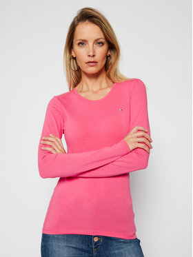 Tommy Jeans Tommy Jeans Блуза Stretch Scoop Neck DW0DW08956 Розов Regular Fit