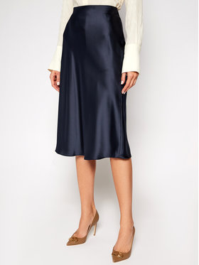 Lauren Ralph Lauren Lauren Ralph Lauren Trapézová sukně Sharae 200808160007 Tmavomodrá Regular Fit