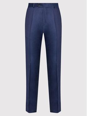 Carl Gross Carl Gross Pantalon de costume Cg Flann 061S0-70 Bleu marine Regular Fit