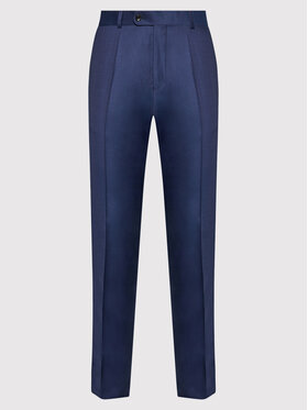 Carl Gross Carl Gross Панталон от костюм Cg Flann 061S0-70 Тъмносин Regular Fit