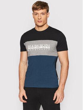 Napapijri Napapijri T-Shirt Sogy NP0A4FRI Blau Regular Fit